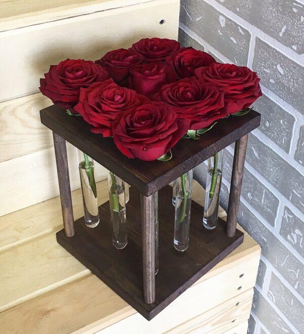 Вазочка КВАДРАТ на 9 роз