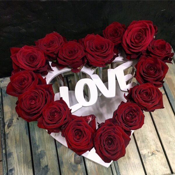 Вазочке сердце LOVE