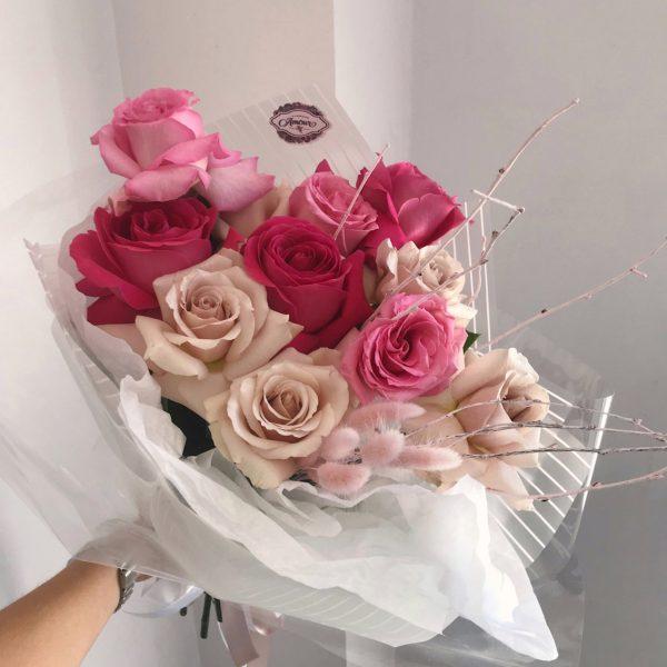 Букет из роз «Малиновое пролине»
