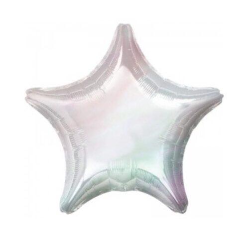 Шар 18″/46 см фольгированный Звезда перламутровый перелив
