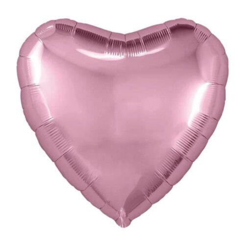 Шар 18″/46см фольгированный Сердце розовое