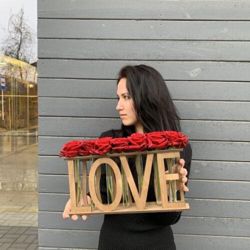 Вазочка на 7роз «LOVE»